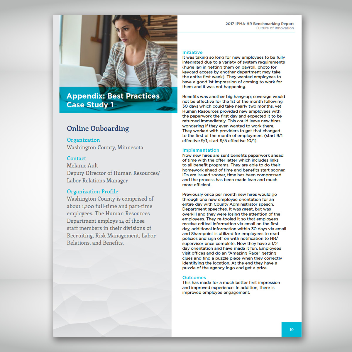 IPMA-HR Benchmarking Report Case Study Page