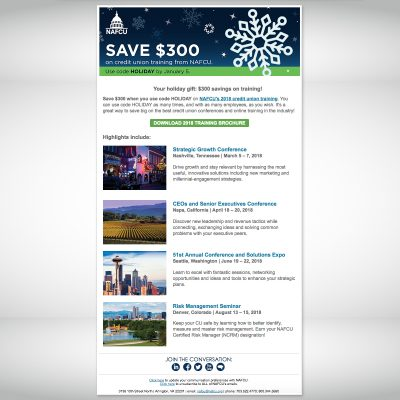 NAFCU Holiday Email