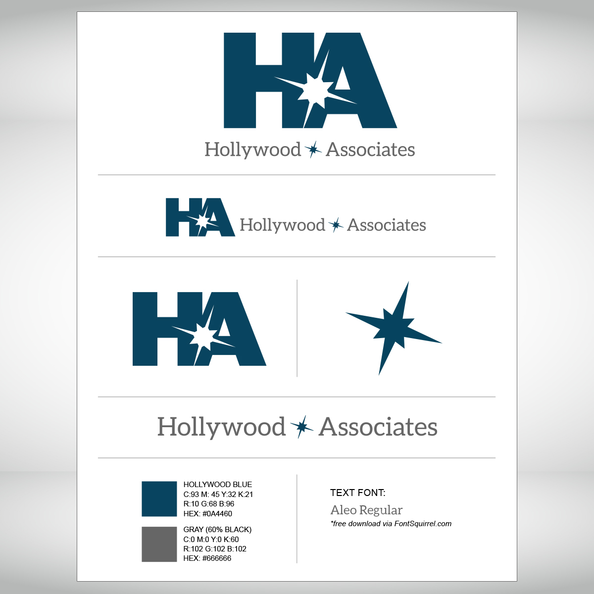 Hollywood & Associates Logo sheet