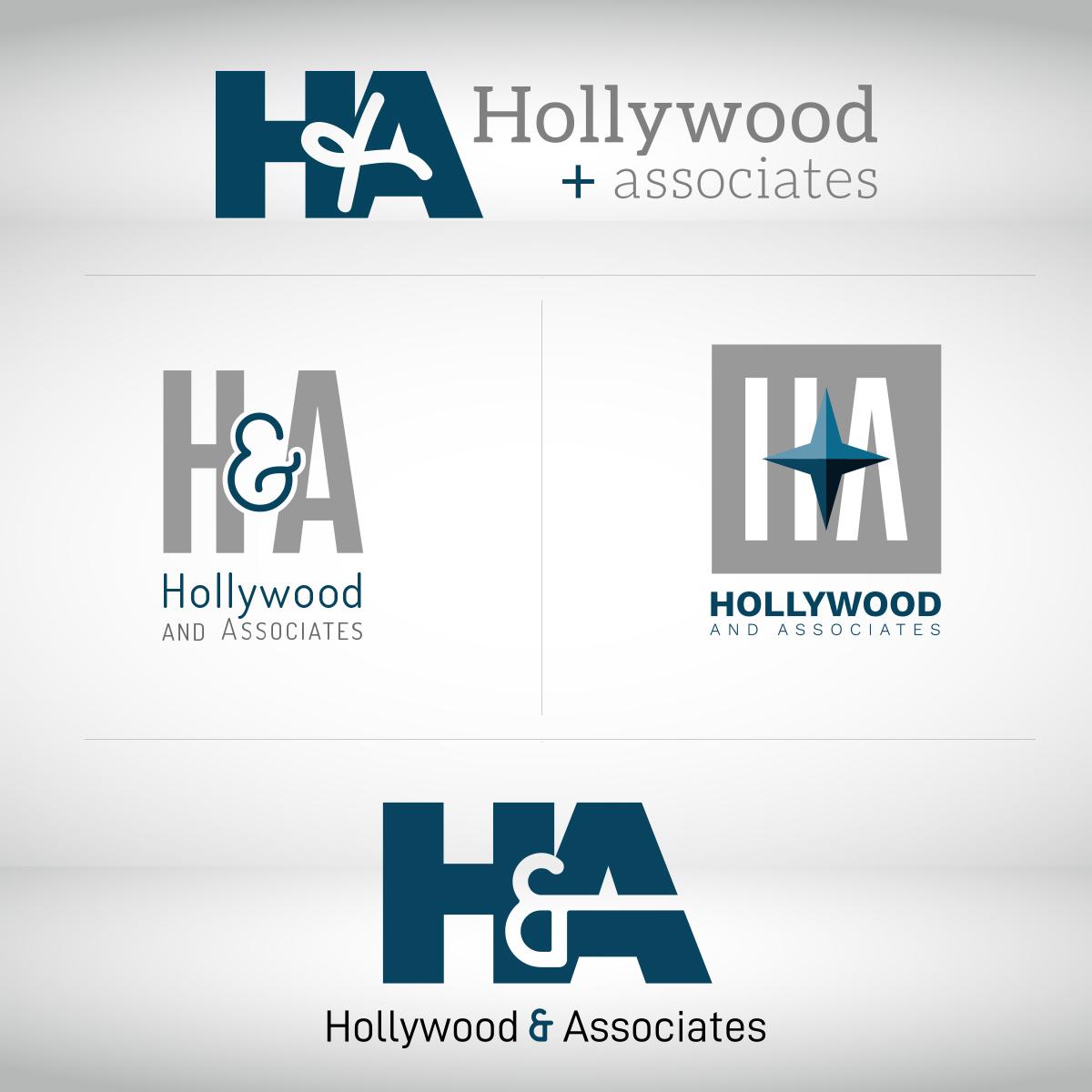 Hollywood & Associates Logo Unused Options