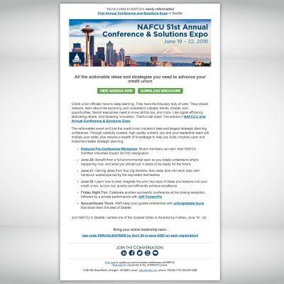 NAFCU Annual Conference Email